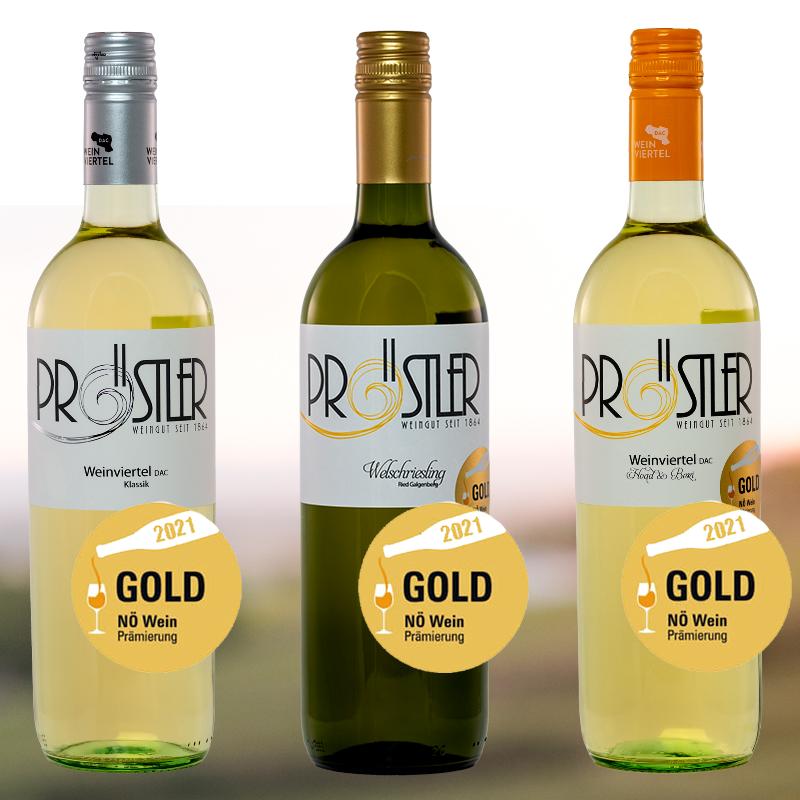 Goldmedaillen NÖ Wein 2021 - Weinbau Pröstler
